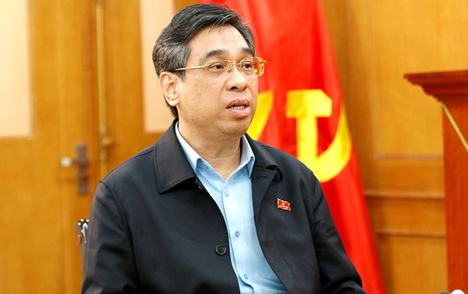 Đồng chí Nguyễn Phước Lộc, Phó Trưởng ban Dân vận Trung ương trả lời phỏng vấn - Ảnh: PC