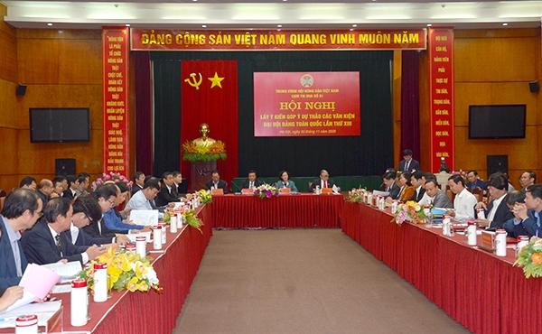 Ban Dân vận Trung ương đã phối hợp tổ chức 24 cuộc lấy ý kiến nhân dân góp ý các dự thảo văn kiện Đại hội đại biểu toàn quốc lần thứ XIII của Đảng -  Ảnh: PC