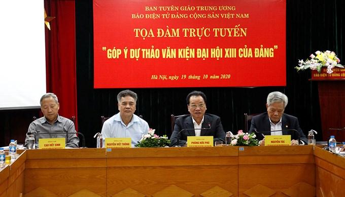 Báo điện tử Đảng cộng sản Việt Nam, Trang tin điện tử Đại hội XIII đã thực hiện Tọa đàm trực tuyến Góp ý vào