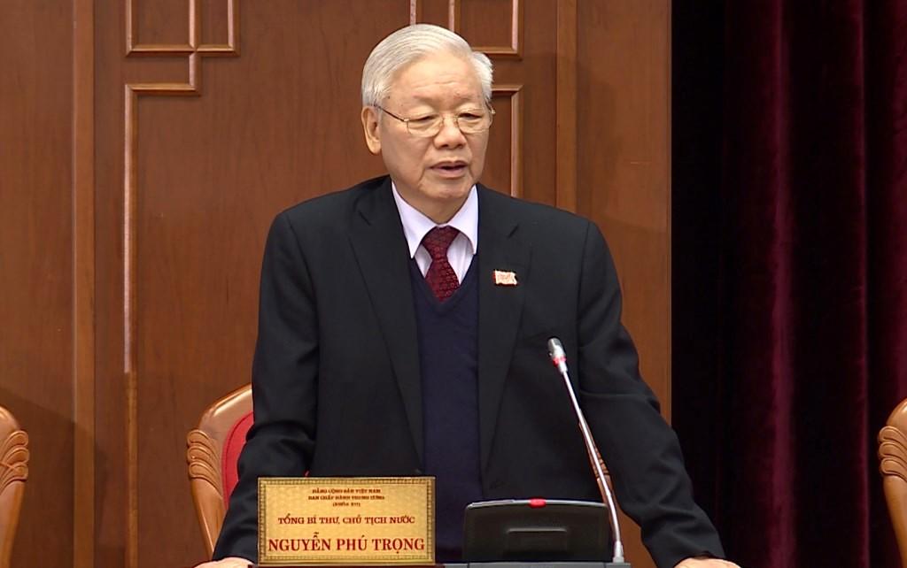 Tổng Bí thư, Chủ tịch nước Nguyễn Phú Trọng được Ban Chấp hành Trung ương tiếp tục tín nhiệm bầu giữ chức Tổng Bí thư Ban Chấp hành Trung ương Đảng khóa XIII.