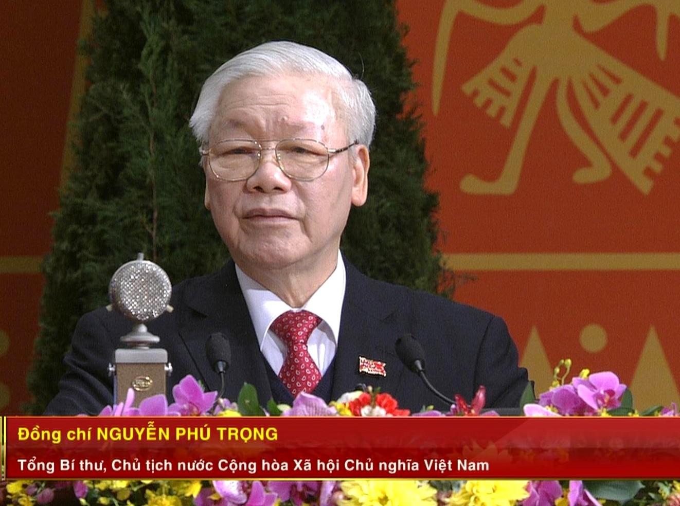 Tổng Bí thư, Chủ tịch nước Nguyễn Phú Trọng phát biểu bế mạc Đại hội.