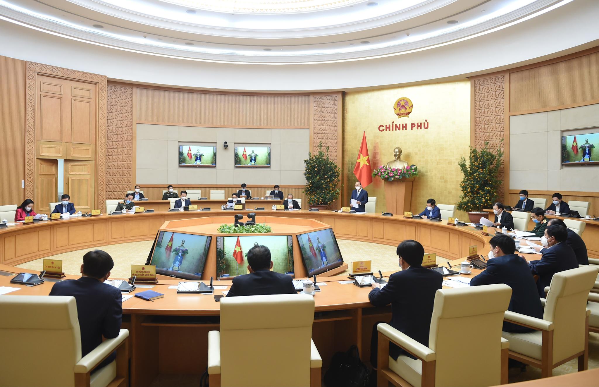 Cuộc họp Thường trực Chính phủ bàn về tình hình Tết, triển khai các nhiệm vụ trọng tâm sau Tết và công tác phòng chống dịch COVID-19