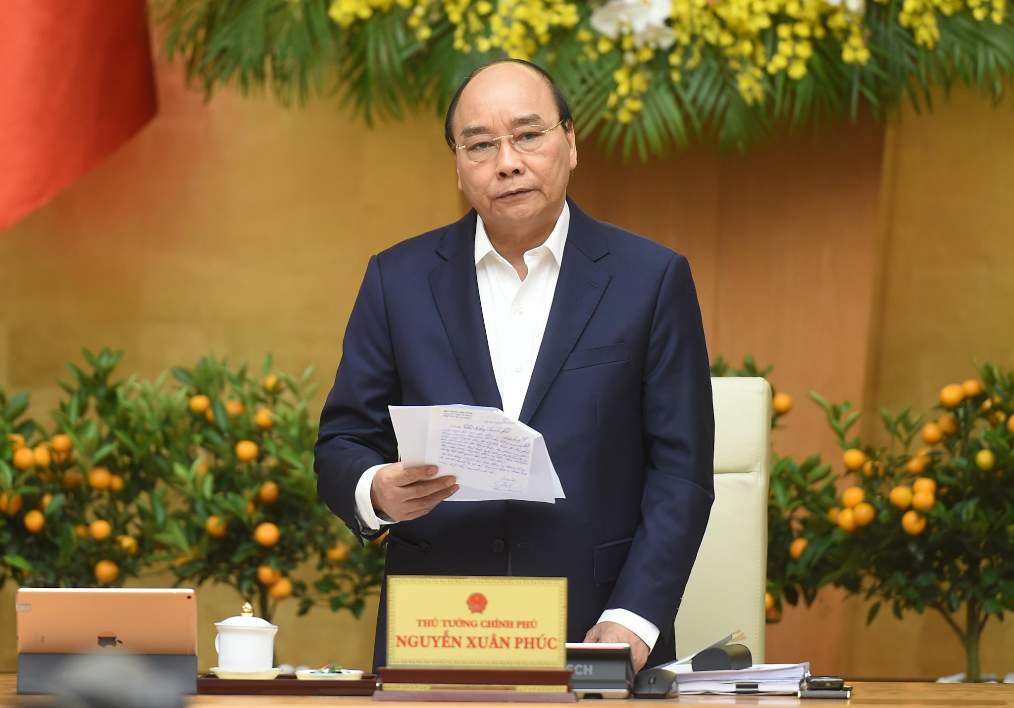 Thủ tướng Nguyễn Xuân Phúc kết luận phiên họp,