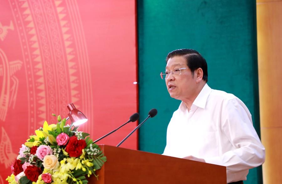 Đồng chí Phan Đình Trạc phát biểu kết luận Hội nghị