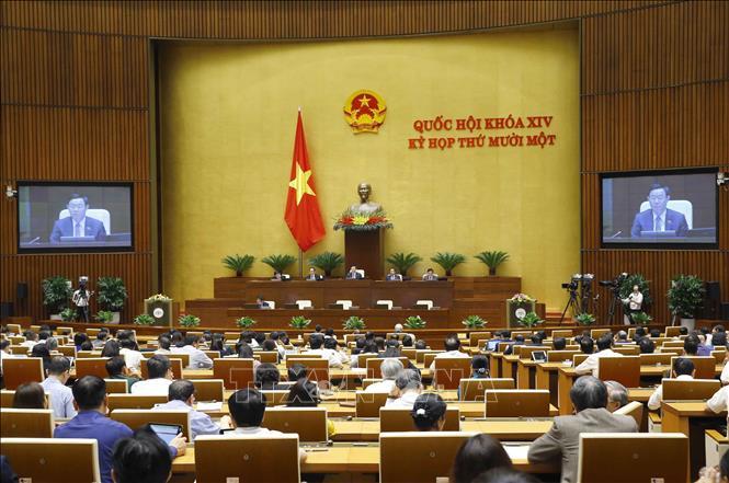 Chiều 7/4, Thủ tướng Chính phủ Phạm Minh Chính đã trình danh sách để Quốc hội phê chuẩn việc bổ nhiệm 2 Phó Thủ tướng Chính phủ và 12 Bộ trưởng, trưởng ngành. Ảnh: TTXVN